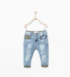 ZARA - KIDS - Washed trousers with camouflage detail