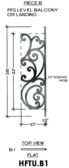 Cheap Stair Parts - Tuscany B1 - Level
