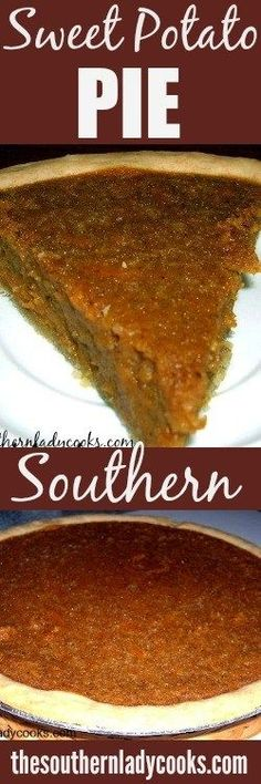 SWEET POTATO PIE - The Southern Lady Cooks - Easy Recipe All Southerners love sweet potato pie! It is wonderful during the holidays or just anytime you need a great dessert. Sweet Potato Pie is one pie you will make over and over again! Great Desserts, Köstliche Desserts, Delicious Desserts, Dessert Recipes, Delicious Dishes, Southern Desserts, Southern Recipes, Southern Food, Southern Comfort