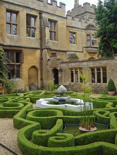 Would love this for my sloping front yard. Formal Gardens, Outdoor Gardens, Outdoor Rooms, Outdoor Living, Beautiful Gardens, Beautiful Homes, Grandmas Garden, Victorian Gardens, Victorian Homes