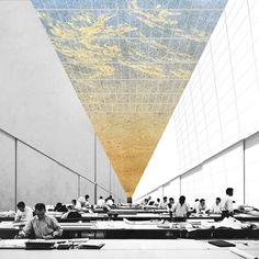 AA School of Architecture Projekte Rückblick 2011 - Diplom 14 - Brian Hwui Zhi Cheng, Render Architecture, Architecture Visualization, Architecture Graphics, Architecture Portfolio, Architecture Drawings, School Architecture, Landscape Architecture, Creative Architecture, Photomontage