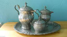 "Antique Pewter Englisch Zinn "" 7 Items"" Tea / Coffee Set -18th Century ""1770"""
