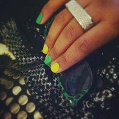 Shootin' the NYC breeze in my Skittle nails… :)  #tastetherainbow n'stuff