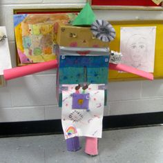 Art Robot created in our Drawing Club 3d Art Projects, Teaching Vocabulary, Teacher Blogs, Art Classroom, Elementary Art, Art Education, Art Lessons, About Me Blog, Gift Wrapping