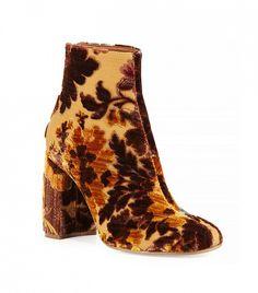 Stella McCartney Floral Boots in Mustard