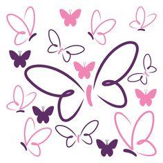 vinilo-decorativo-mariposas-de-colores.jpg (600×600)