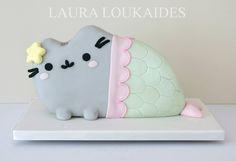 Pusheen Mermaid Cake By Laura Loukaides Cakes - Laura Loukaides Cakes