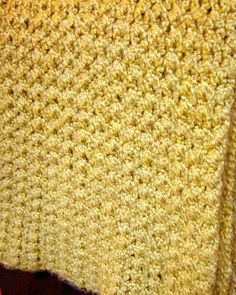 """Quick and Simple Afghan Finished size approx. 45"""" x 70"""" Materials: *8 skeins Lion Brand Homespun yarn *Jumbo plastic crochet hook, abo..."""
