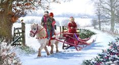 Support the Charity of Your Choice When Ordering Our Traditional Christmas Cards. Christmas Horses, Cowboy Christmas, Country Christmas, Charity Christmas Cards, Vintage Christmas Cards, Christmas Traditions, Christmas Drawing, Christmas Paintings, Christmas Scenes