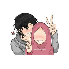 kumpulan kartun romantis parf 3 - my ely Cute Muslim Couples, Cute Couples, Hijab Drawing, Love Cartoon Couple, Islamic Cartoon, Anime Muslim, Hijab Cartoon, Human Art, Islamic Pictures