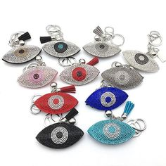Bling mosaic evil eye keychain 11colors