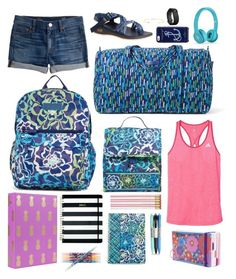 """Contest: Back to School"" by sweet-n-southern ❤ liked on Polyvore featuring Vera Bradley, adidas, J.Crew, Chaco, Kate Spade, Gorjana, Fitbit and lindseysbestsets"