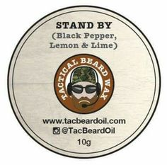 Review of 'Stand By' Moustache wax from Tactical Beard oils #beard #beards #moustache #Mustache #wax #satonmybutt #productreview