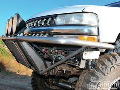 Side Shot Of Finished Bumper How to build a prerunner bumper