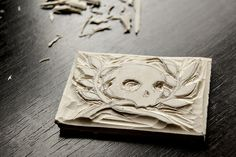 make your own rubber stamp tutorial by beans + ink,