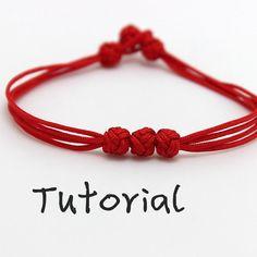 Articoli simili a eBook (Apple of the eye) - Tutorial to Chinese knot bracelet Friendship Bracelet/Wish Bracelet-Instant Diy Jewelry, Jewelery, Fashion Jewelry, Jewelry Making, Bracelet Knots, Bracelet Making, Knots For Bracelets, Knotted Bracelet, Macrame Knots