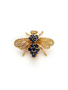 Cartier Sapphire Bumble Bee Brooch