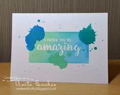 Hi guys Happy Saturday everyone which means new challenge time over at Less is More . It's that dreaded week again. One Layer Week . Less Is More, Distress Ink, Happy Saturday, Simply Beautiful, I Card, Layers, Scrapbook, Crafty, Handmade Cards