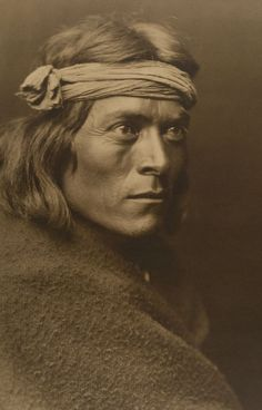 This is a powerful and compelling portrait by internationally renowned photographer Edward S. Curtis. Made of an important leader (Sa We Ta Fina) in the Northern New Mexico pueblo of Zuni, which is still famous for its beautiful and stylized pottery. The subject has an unusually intent gaze, which is accentuated by the strong, clean, and elegant composition and the dramatic lighting, 1803