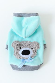 Dog clothes blue bear Hoodie gift pet apparel by rainbowdogs Dog Grooming Clippers, Dog Grooming Shop, Dog Grooming Business, Dog Training Bells, Dog Training Treats, Modern Dog Toys, Dog House Air Conditioner, Dog Breeds Little, Unique Dog Breeds