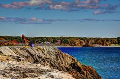 Artist Enjoying An Autumn Day (c) Laura Duhaime Photography  This seascape was taken in coastal New Hampshire. It was a perfect day to sit by the ocean and take in the tranquil scene. I was able to capture an artist also enjoying all that nature has to offer.