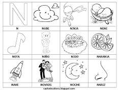 Rayito de Colores Palabras del Alfabeto J K L LL M N  O