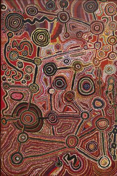 Men's Native Title Painting, 1998, the Spinifex Arts Community Collection.  Spinifex: People of the Sun and Shadow. John Curtin Gallery. Perth, W. Australia.