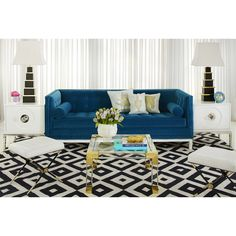 Broyhill Sofa Hollywood Glamour Jonathan Adler us signature Lampert Sofa available exclusively at Coco Republic