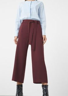 Burgundy Crop trousers