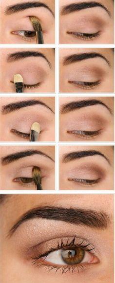Maquillaje en tonos cafés