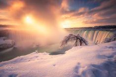 After Sunrise - Niagara Falls by Marvin_Ramos  superbnature Follow 500pxnaturewaterfallssunriselong exposurelandscapesunlightmisttravellightcloudsskyflow