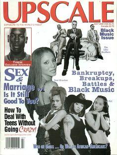 #UPSCALE MAGAZINE JULY 2000 #TLC #BOBMARLEY #TYRESE FASHION #MUSIC NO LABEL NEWSTAND $18.99