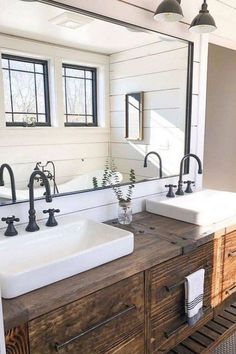 If you are looking for Farmhouse Bathroom Vanity Decor Ideas, You come to the right place. Here are the Farmhouse Bathroom Vanity Decor Ideas. Rustic Master Bathroom, Rustic Bathroom Vanities, Rustic Bathroom Decor, Modern Farmhouse Bathroom, Rustic Bathrooms, Bathroom Styling, Bathroom Interior, Bathroom Ideas, Bathroom Wall