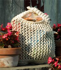 The 1Bag Hand Knit Grocery Bag Number 1