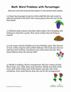 percentage word problems fun friday word problems. Black Bedroom Furniture Sets. Home Design Ideas