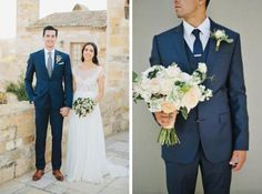 There's something about a man in a blue suit... [via Weddbook]