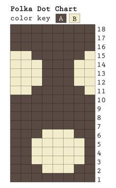 Polka dot color work chart