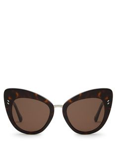 STELLA MCCARTNEY Cat-eye acetate sunglasses. #stellamccartney #sunglasses