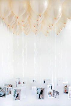 Idea, decoración, globos