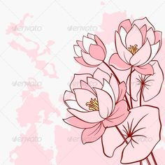Abstract Water Lily Flowers  #GraphicRiver         Abstract water lily flowers in pink and red colors. Editable EPS8 and JPEG (can edit in any vector and graphic editor) files are included   SPORTS                                               MASCOTS                                               MEDICINE                                 FOOD                                               LABELS                                               WEDDING                         DESIGN…