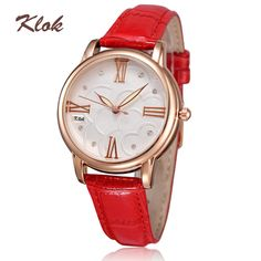 Ladies women dress watches fashion genuine leather strap quartz watches relogio feminino 30m life waterproof wristwatches US $16.79