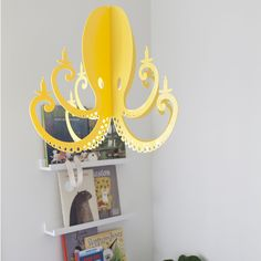 Chandelier By NK Yellow Octopus Chandelier Mobile. At Rosenberry Rooms. $69.99