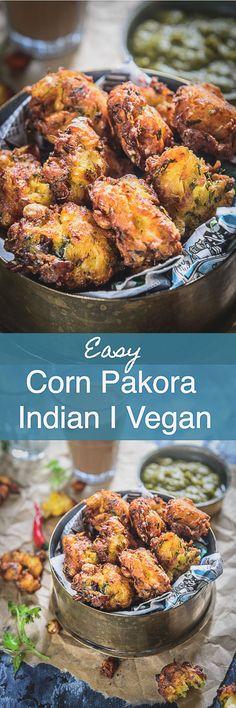 Corn Pakora Recipe I Corn Fritters Recipe I Corn Pakoda are a perfect tea time snack which are crispy crunchy from outside and soft from inside.Indian I Tea Time I Snacks I Easy I simple I Quick I Best I Perfect I Vegan I Vegetarian