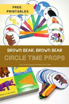 Bear Activities Preschool, Circle Time Activities, Preschool Books, Free Preschool, Preschool Printables, Alphabet Activities, Color Activities, Toddler Preschool, Preschool Activities