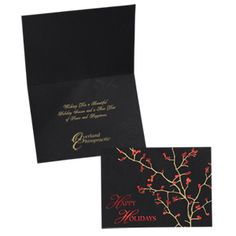 Customize these greeting cards with your company's holiday message! Holiday Messages, Holiday Greeting Cards, Personalized Greeting Cards, Custom Greeting Cards, Good Cheer, Red Berries, Appreciation, Christmas, Yule