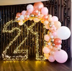 Image about photo in Balloons by * 🎀 𝒵𝒾𝑔 𝒵𝒶𝑔 𝒵𝒾𝓅𝓅𝓎 𝟣𝟪𝟪𝟦 🎀 * 21st Birthday Decorations, Birthday Backdrop, 21st Birthday Gifts, 20th Birthday, Gold Birthday, Happy Birthday, 21 Birthday Parties, 21 Birthday Balloons, 21st Birthday Themes