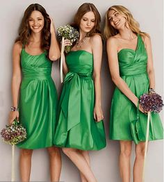 not the color, but i thought these bridesmaid dresses from Davids Bridal were cute....clearly you know which one i like the best.