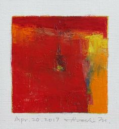 "Apr. 20, 2017 9 cm x 9 cm (app. 4"" x 4"") oil on canvas © 2017 Hiroshi Matsumoto"