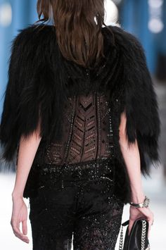 roberto cavalli spring 2014, but no real fur please