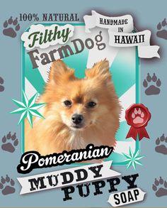 Pomeranian Muddy Puppy Dog Soap